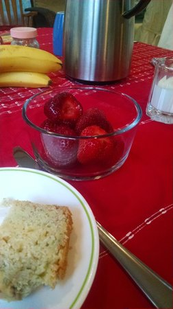 River Gardens Bed and Breakfast, LLC: Fresh strawberries from the garden