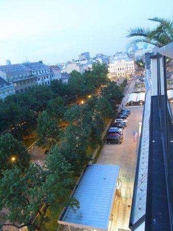 Hviezdoslavovo Namestie: View on the square from the Restaurant Lemon Tree