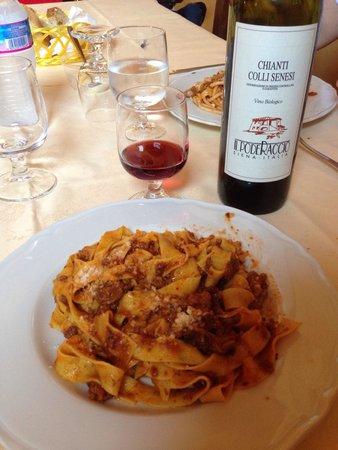 Agriturismo & Casale San Galgano: Pappardelle al cinghiale