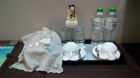 Jonker Boutique Hotel: The complimentary mineral water n coffee