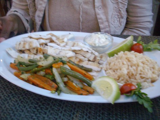 Restaurant Bab Sbaa : Grilled Calamari & Vegetables