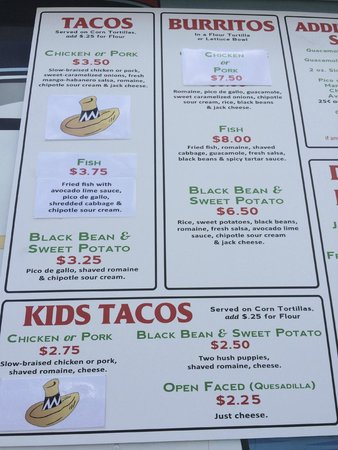 Metzy's Taqueria : terrific menu