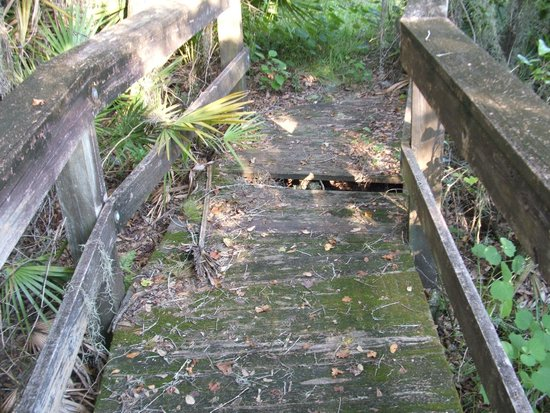 Ortona Indian Mound Park: Broken Boardwalk