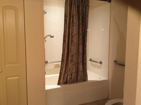 Thousand Hills Resort and Golf Club: shower/whirlpool tub in bathroom