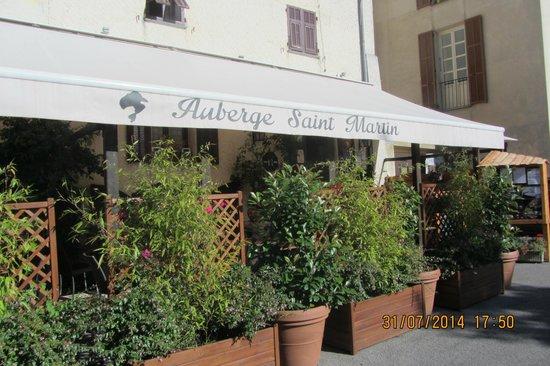 Auberge Saint Martin: la terrasse