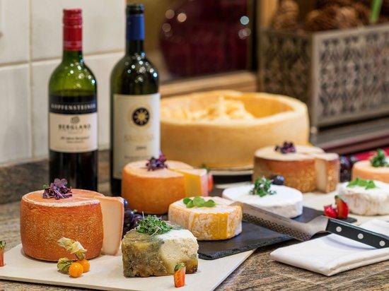 Wine and gourmet kitchen at the Wellnesshotel Bergland