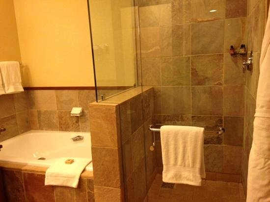 Four Seasons Resort and Residences Whistler: one side of the bathroom