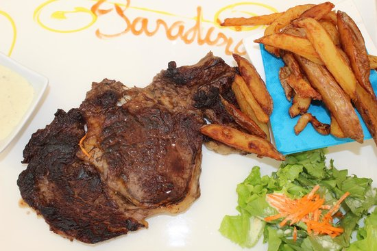 Le Paradisio: steak light frite