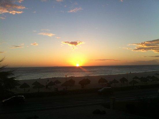 Divi Village Golf and Beach Resort: Sunset from balcony