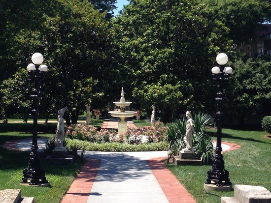 View from the front porch of Belmont Mansion