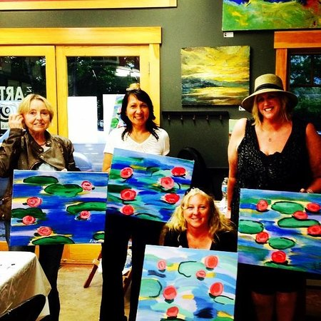 Jackson Art Studio & Gallery: Sip & Paint waterlilies