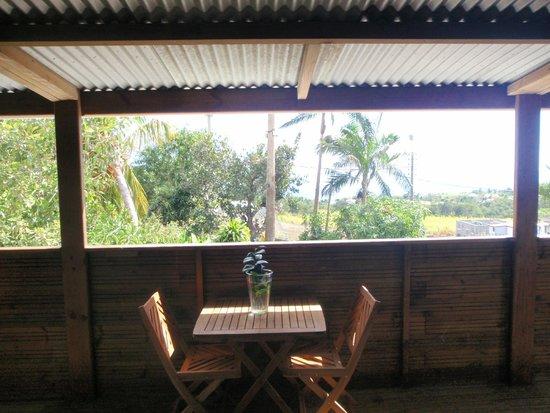 Côté Cannelle : Terrasse devant la chambre