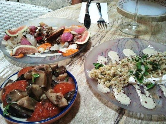 Small plates at restaurant Dalal in Acre, Israel