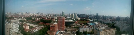 Crowne Plaza Shanghai Fudan : view from the room 16th floor