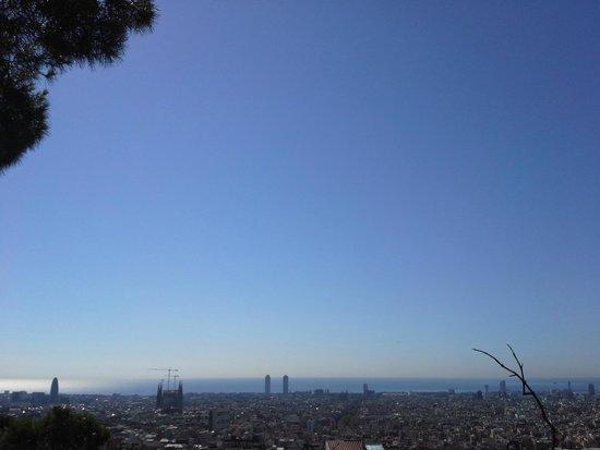 Parc Güell : Vista de Barcelona