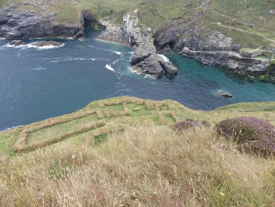 Tintagel Castle: From atop the Castle Ruins