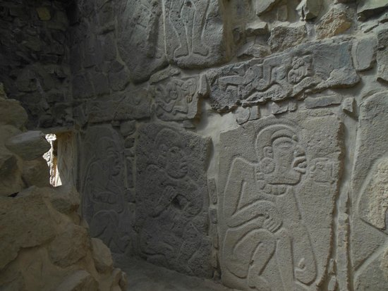 Monte Albán: the famous dancers on tablets at Monte Alban