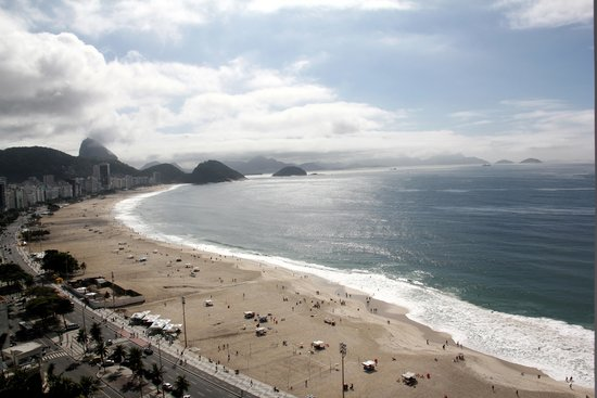 Porto Bay Rio Internacional Hotel: vieuw from the terras