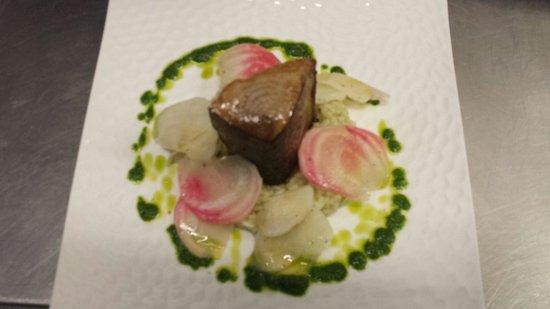 Le Poivron Bleu : Mi cuit de bonite de méditerranée
