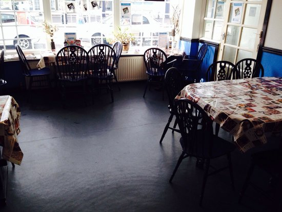 The Willows Coffee House : New Flooring as you enter Cafe