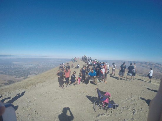 Mission Peak Regional Preserve: At the top. (Look at all the people! )