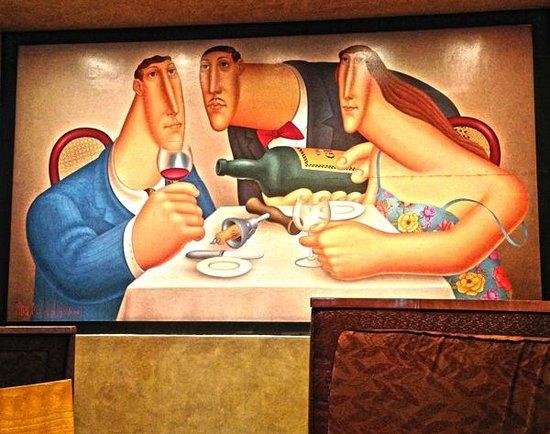 Mystic Marriott Hotel & Spa: Octagon Wall