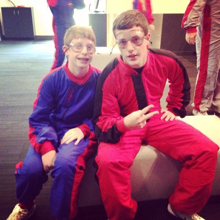 iFLY Indoor Skydiving - Austin: Our boys waiting for the helmets. Great time at iFly in Austin!