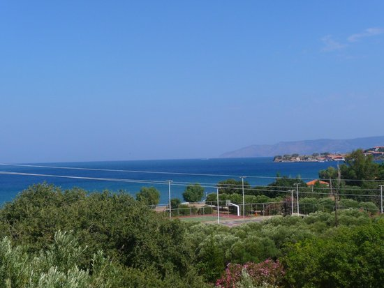 Delfinia Hotel & Bungalows: View from bungalows area