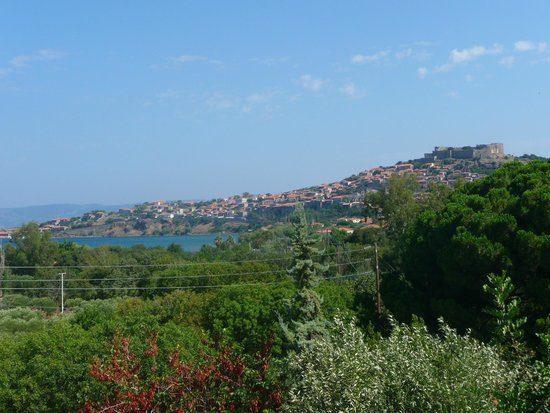 Delfinia Hotel & Bungalows: Molyvos Town as seen from hotel