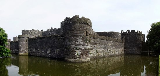 Beaumaris Castle: View from the ticket office