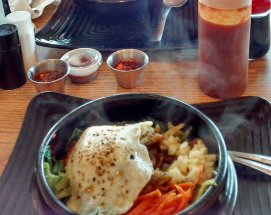 Korean Grill Egg Rolls to Go: Dolsot bibimbap!