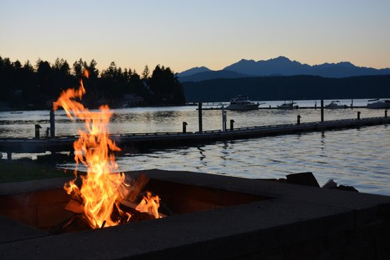 Alderbrook Resort & Spa : outdoor fire pit area
