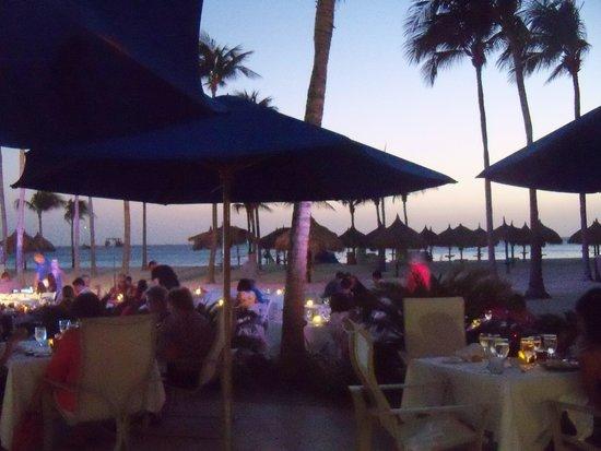 La Vista: Dining at sunset