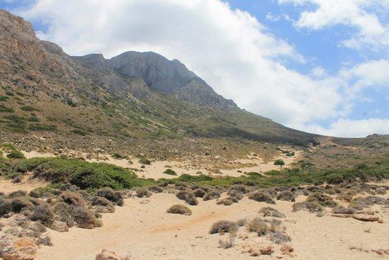 Balos Beach and Lagoon : Vue du côté montagne
