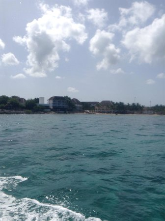 Sunscape Sabor Cozumel: View from Dive House Boat