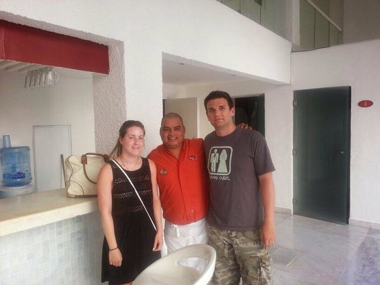 Bel Air Collection Resort & Spa Cancun: Us with Juan the barman