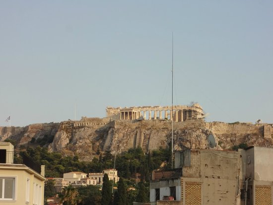 O&B Athens Boutique Hotel: Acropolis from the room
