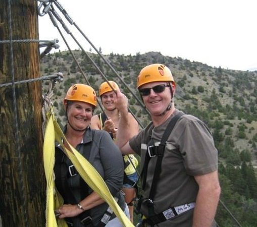 Montana Whitewater Rafting and Zipline on the Yellowstone River : Slais Family having a fun time!!