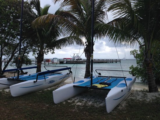 Hatchet Caye Resort: Take out a Hobie Cat
