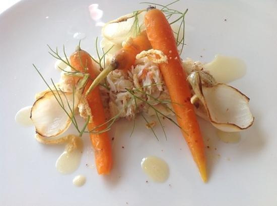 La Tour : tourteau, carottes nouvelles