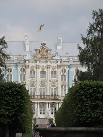 Catherine Palace and Park: View of the palace from the gardens