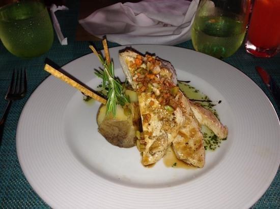 Memories Splash Punta Cana: Chicken souvlaki at Opa