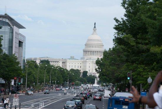 U.S. Capitol from BigBus Rooftop