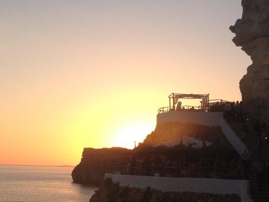 Cova d'en Xoroi: Coucher de soleil