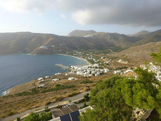 Pano Gitonia: Aegiali Bay from the hotel