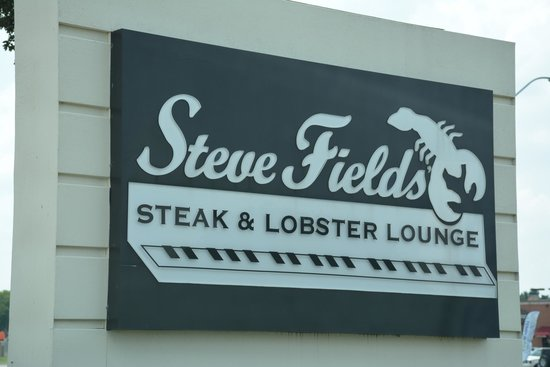 Steve Fields Steak & Lobster Lounge : Sign In Frotn Of Restaurant