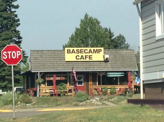 Exterior of the Base Camp Cafe in Columbia Falls, MT (from across the street)