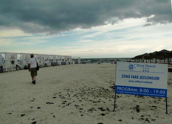 """Mamaia Beach: The """"no sun lounge"""" area"""