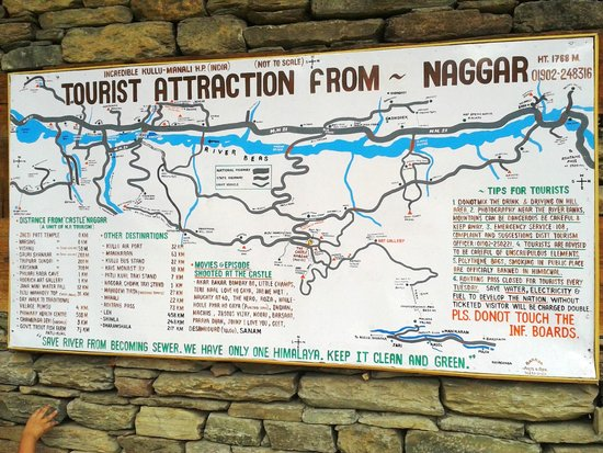 Naggar Castle : instruction on wall