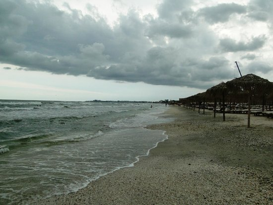 Mamaia Beach on a cold July day